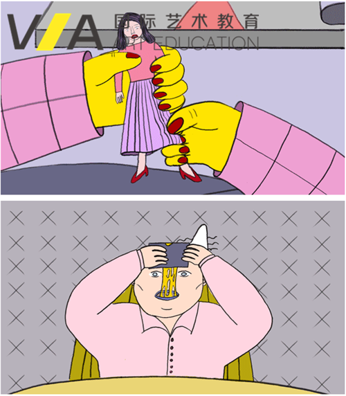 VA杭州Workshop|与皇艺梁老师一起,一天学会动态式插画14 / 作者:VA艺术留学 / 帖子ID:17570,28350